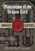 Seafoot Games - Mausoleum of the Dragon Lord | 20x30 Battlemap