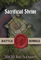 Sacrificial Shrine | 20x30 Battlemap [BUNDLE]