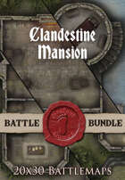 Clandestine Mansion | 20x30 Battlemaps [BUNDLE]