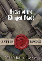 Order of the Winged Blade | 20x30 Battlemaps [BUNDLE]
