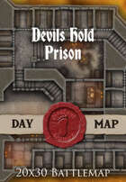 Seafoot Games - Devils Hold Prison | 20x30 Battlemap