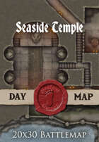 Seafoot Games - Seaside Temple | 40x30 Battlemap