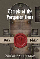 Seafoot Games - Temple of the Forgotten Ones | 40x30 Battlemap