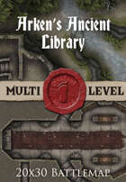 Seafoot Games - Arken's Ancient Library | 20x30 Battlemap
