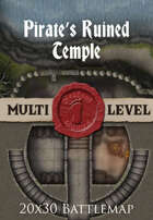 Seafoot Games - Pirate's Ruined Temple | 20x30 Battlemap