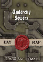 Seafoot Games - Undercity Sewers | 20x30 Battlemap