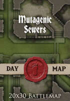 Seafoot Games - Mutagenic Sewers | 20x30 Battlemap