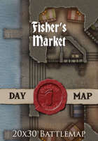 Seafoot Games - Fisher's Market | 20x30 Battlemap