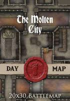 Seafoot Games - The Molten City | 20x30 Battlemap
