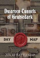 Seafoot Games - Dwarven Tunnels of Grubledark | 20x30 Battlemap