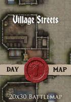 Seafoot Games - Village Streets | 20x30 Battlemap