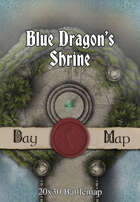 Seafoot Games - Blue Dragon's Shrine | 20x30 Battlemap