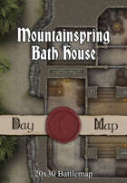 Seafoot Games - Mountainspring Bath House  | 20x30 Battlemap
