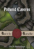 Polluted Caverns | 40x30 Battlemaps [BUNDLE]