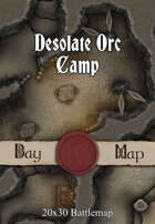 Seafoot Games - Desolate Orc Camp | 40x30 Battlemap