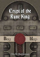 Seafoot Games - Crypt of the Rune King | 20x30 Battlemap