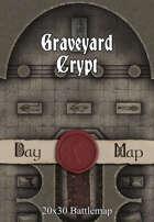 Seafoot Games - Graveyard Crypt | 20x30 Battlemap