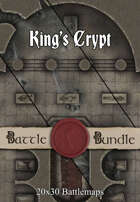 King's Crypt | 30x20 Battlemaps [BUNDLE]