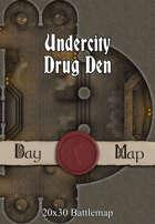 Seafoot Games - Undercity Drug Den | 20x30 Battlemap