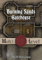 Seafoot Games - Burning Sands Gatehouse | 20x30 Battlemap