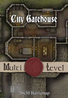 Seafoot Games - City Gatehouse | 20x30 Battlemap