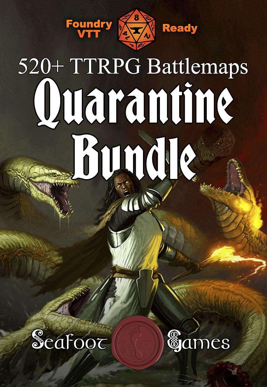 Quarantine Battlemap Bundle - 520+ Fantasy D&D Battlemaps for $39 [BUNDLE]