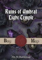 Seafoot Games - Ruins of Umbral Light Temple | 20x30 Battlemap