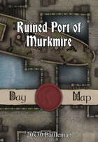 Seafoot Games - Ruined Port of Murkmire | 20x30 Battlemap