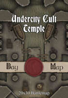 Seafoot Games - Undercity Cult Temple | 20x30 Battlemap