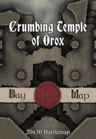 Seafoot Games - Crumbing Temple of Orox | 20x30 Battlemap
