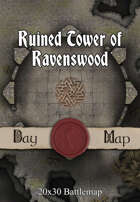 Seafoot Games - Ruined Tower of Ravenswood | 40x30 Battlemap