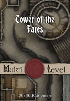 30x20 Multi-Level Battlemap - Tower of the Fates
