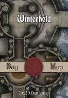 30x20 Multi-Level Battlemap - Winterhold