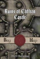 30x20 Multi-Level Battlemap - Ruins of Cliffton Castle