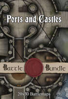 Ports and Castles | 30x20 Multi-Level Battlemaps [BUNDLE]