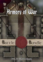 Armory of War | 30x20 Battlemaps [BUNDLE]