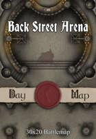 30x20 Battlemap - Back Street Arena