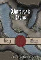 30x20 Multi-Level Battlemap - Wintervale Ravine