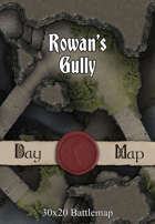 30x20 Multi-Level Battlemap - Rowans Gully