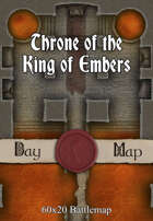 60x20 Battlemap - Throne of the King of Embers