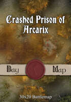 30x20 Battlemap - Crashed Prison of Arcarix