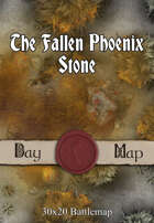 30x20 Battlemap - The Fallen Phoenix Stone