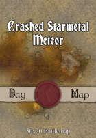 30x20 Battlemap - Crashed Starmetal Meteor