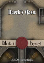 30x20 Multi-Level Battlemap - Davek's Oasis