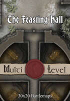 30x20 Multi-Level Battlemap - The Feasting Hall