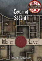 30x20 Multi-Level Battlemap - Town of Seacliff