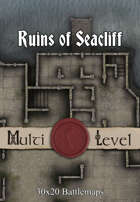 30x20 Multi-Level Battlemap - Ruins of Seacliff