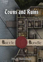 Towns and Ruins | 30x20 Battlemaps [BUNDLE]