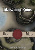 30x20 Battlemap - Blossoming Ruins