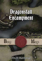30x20 Battlemap - Dragonsfall Encampment